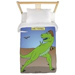 T-Rex Early Football Twin Duvet Cover