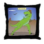 T-Rex Early Football Throw Pillow