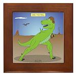 T-Rex Early Football Framed Tile