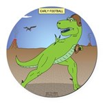 T-Rex Early Football Round Car Magnet