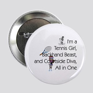"Tennis Court Diva 2.25"" Button"
