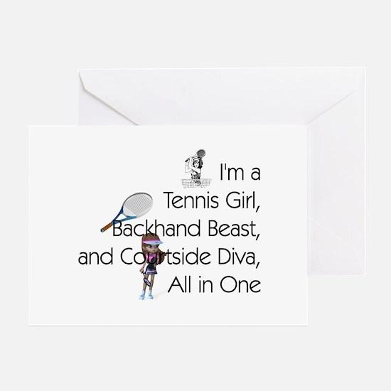 Tennis Court Diva Greeting Card