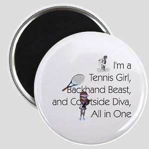 Tennis Court Diva Magnet