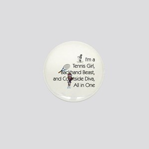 Tennis Court Diva Mini Button