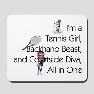Tennis Court Diva Mousepad