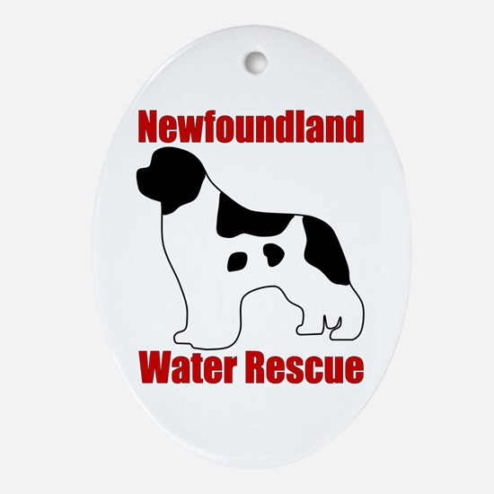 Landseer Water Rescue Ornament (Oval)