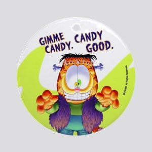 Garfield Gimme Candy Ornament (Round)