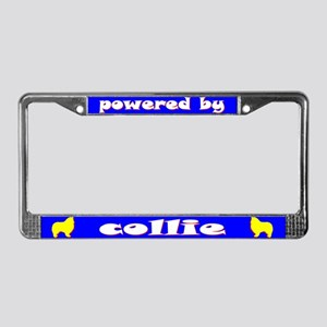 Powered by Collie (Rough) License Plate Frame