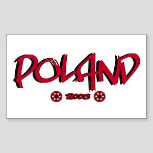 Poland World Cup Soccer Urban Sticker (Rectangular
