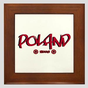 Poland World Cup Soccer Urban Framed Tile