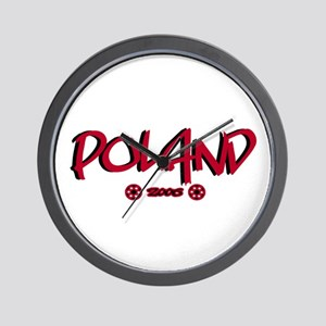 Poland World Cup Soccer Urban Wall Clock