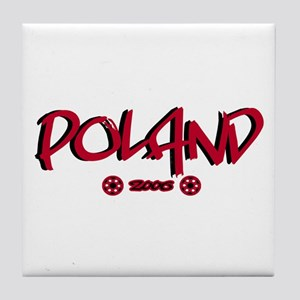 Poland World Cup Soccer Urban Tile Coaster
