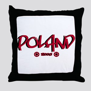 Poland World Cup Soccer Urban Throw Pillow
