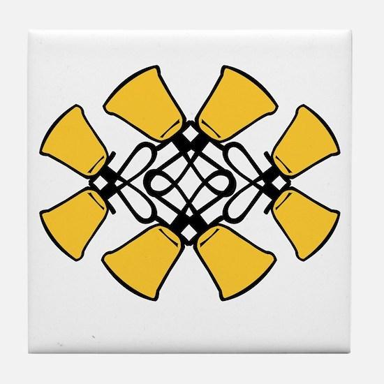 Twined Bells Tile Coaster