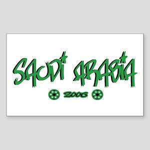 Saudi Arabia World Cup Soccer Urban Sticker (Recta