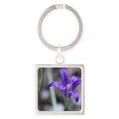 Blue-Eyed Grass Flower Keychains