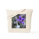 Blue-Eyed Grass Flower Tote Bag