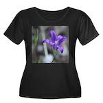 Blue-Eyed Grass Flower Plus Size T-Shirt