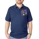 Blue-Eyed Grass Flower Dark Polo Shirt