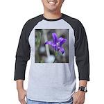 Blue-Eyed Grass Flower Mens Baseball Tee