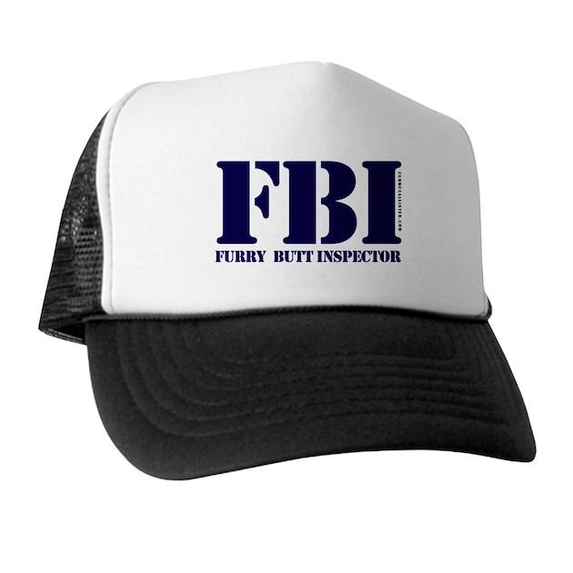 FBI (Furry Butt Inspector) (blue) Trucker Hat by cubmccallister 82578703f59