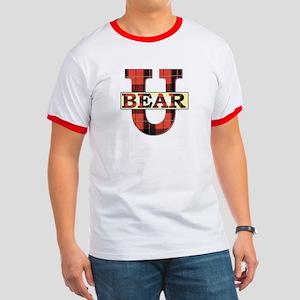 Bear University (Plaid U) Rimmed T-Shirt