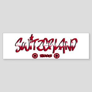 Switzerland World Cup Soccer Urban Sticker (Bumper