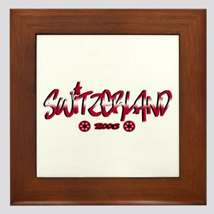 Switzerland World Cup Soccer Urban Framed Tile