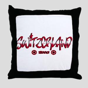 Switzerland World Cup Soccer Urban Throw Pillow