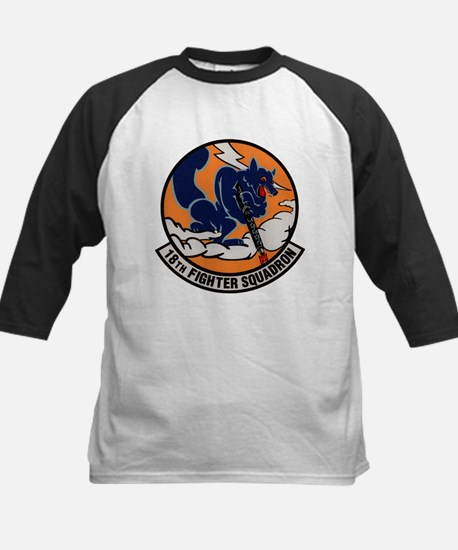 18th Fighter Squadron Kids Baseball Jersey