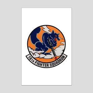 18th Fighter Squadron Mini Poster Print