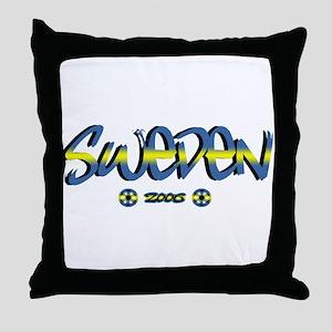 Sweden World Cup Soccer Urban Throw Pillow