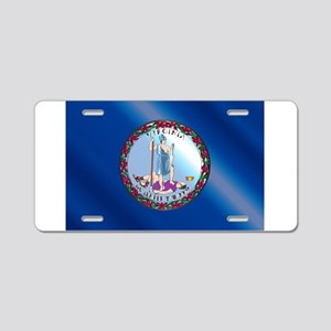 Flag of Virginia Gloss Aluminum License Plate