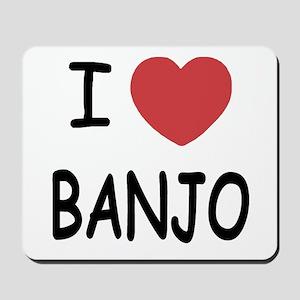 I heart banjo Mousepad