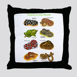 Snakes of the World Throw Pillow