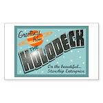 Star Trek Holodeck Sticker (Rectangle)