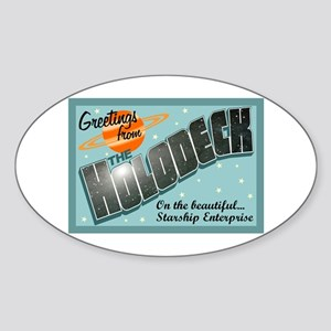Star Trek Holodeck Sticker (Oval)