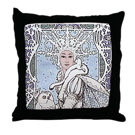Snowflake Queen Throw Pillow
