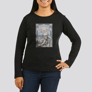 Snowflake Queen Women's Long Sleeve Dark T-Shirt