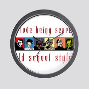 Old School Scared Wall Clock