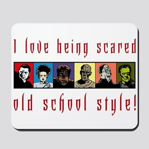 Old School Scared Mousepad