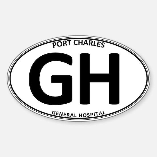 General Hospital - GH Oval Sticker (Oval)