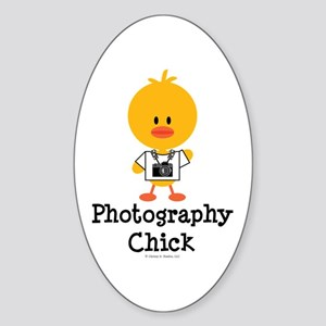 Photography Chick Sticker (Oval)