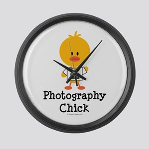 Photography Chick Large Wall Clock