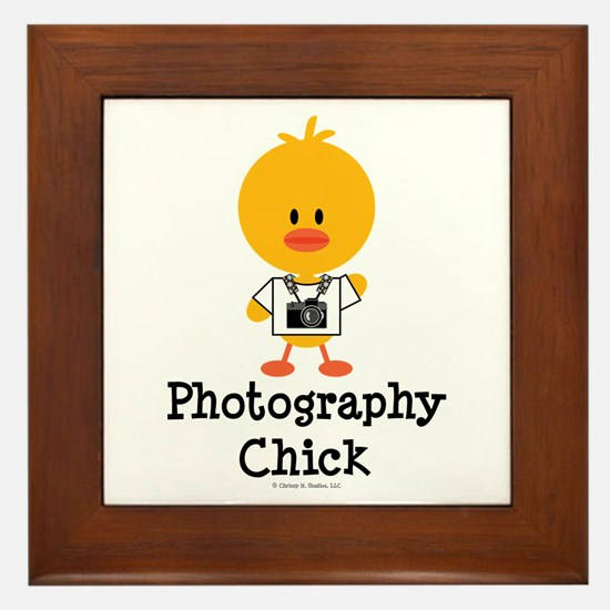 Photography Chick Framed Tile
