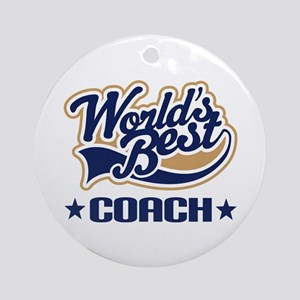 Worlds Best Coach Ornament (Round)