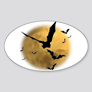 Bats in the Evening Sticker (Oval)