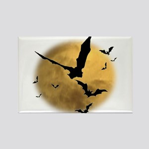 Bats in the Evening Rectangle Magnet
