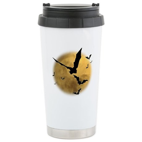 Bats in the Evening Stainless Steel Travel Mug