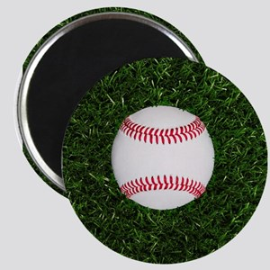 Baseball in Grass Magnets